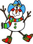 Cute Cowboy Snowman