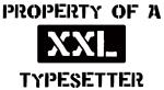 Property of: Typesetter