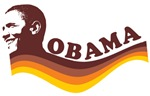 Barack Obama (brown retro)