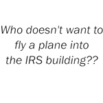 Who Doesn't Want To Fly A Plane Into The IRS Build