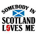 Somebody In Scotland T-shirt