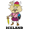 Cartoon Iceland T-shirt