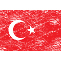 Vintage Turkey Flag
