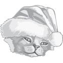 Christmas Kitten Illustration