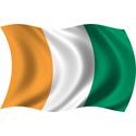 Wavy Cote d'Ivoire Flag