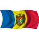 Wavy Moldova Flag