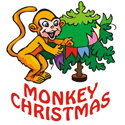 Monkey Christmas T-shirt & Gift