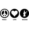 Peace Love Wizard