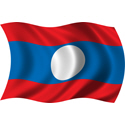 Wavy Laos Flag