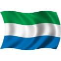 Wavy Sierra Leone Flag