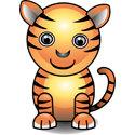 Cute 3D Tiger