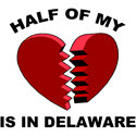 Heart In Delaware T-shirts