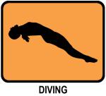 Womens Diving (orange)