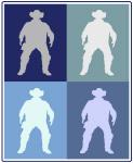 Cowboy (blue boxes)