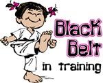 Black Belt in Training - Asian Girl