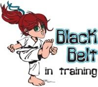 Black Belt in Training - Red haired girl
