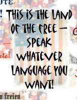 This is America - speak whatever language you want