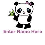 Personalized Panda Bear