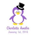 Purple Top Hat Penguin