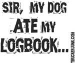 Sir, my dog ATE my LOGBOOK.