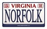 Virginia Plate NORFOLK