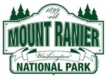 Mount Ranier National Park Green Mountain Sign