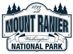 Mount Ranier National Park Blue Sign Design