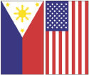 Philippine and US Flags