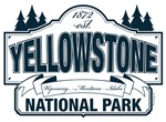 Yellowstone National Park Blue Sign Design