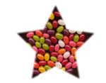 CANDY STAR (JELLYBEANS IN STAR)
