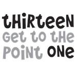 13.1 Runner or Walker: thirteen get to the point 1