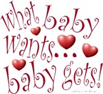 what baby wants...baby gets design