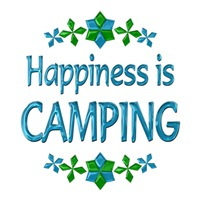 <b>HAPPINESS IS CAMPING</b>