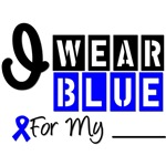 Colon Cancer I Wear Blue Ribbon Shirts & Gifts