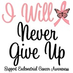 Endometrial Cancer I Will Never Give Up T-Shirts