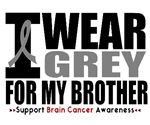 I Wear Grey (Brother) Brain Cancer Shirts & Gifts