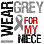  I Wear Grey (Niece) Brain Cancer T-Shirts