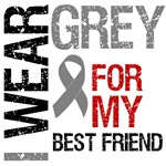 I Wear Grey (Best Friend) Brain Cancer Shirts