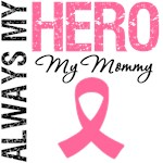 Breast Cancer Always My Hero My Mommy Shirts