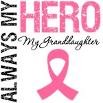 Breast Cancer Always Hero My Granddaughter Shirts