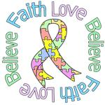 Faith Love Believe Pastel Autism Shirts & Gifts