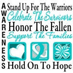 Stand Up Celebrate Honor Cervical Cancer Shirts