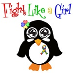 Autism Fight Like a Girl Shirts and Apparel