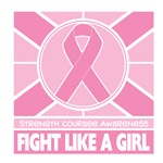 Breast Cancer Fight Like A Girl Flag Shirts