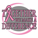 Breast Cancer Together We Make A Difference Tees