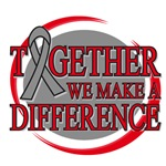 Brain Cancer Together We Make A Difference Shirts
