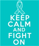 Ovarian Cancer Keep Calm Fight On Shirts