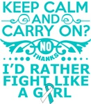 Cervical Cancer Keep Calm & Fight Like A Girl