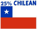 25 PERCENT CHILEAN
