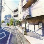 Japanese Street - Japan Watercolor Painting